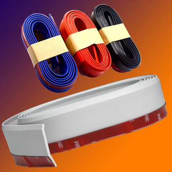 2.5 Meter Rubber Moulding Strip Anti-scratch Strip For Car Door Pedal Trim Bumper DIY Door Sill Protector Edge Guard Car Styling