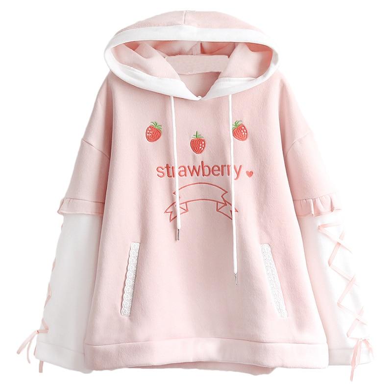 Kawaii Sweet Strawberry Hoodie