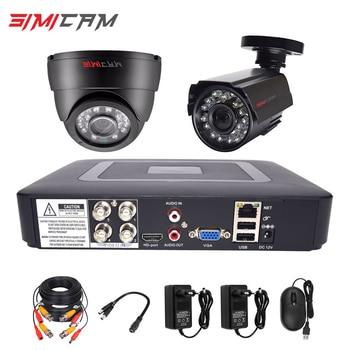 security camera system CCTV kit DVR Cameras HD 4CH 1080N 5in1 DVR Kit 2pcs 720P/1080P AHD Camera 2MP P2P Video surveillance Set hd mini wifi cam dvr system 1080p cctv car ahd dvr p2p video surveillance dvr recorder for ahd cvi tvi camera support tf card
