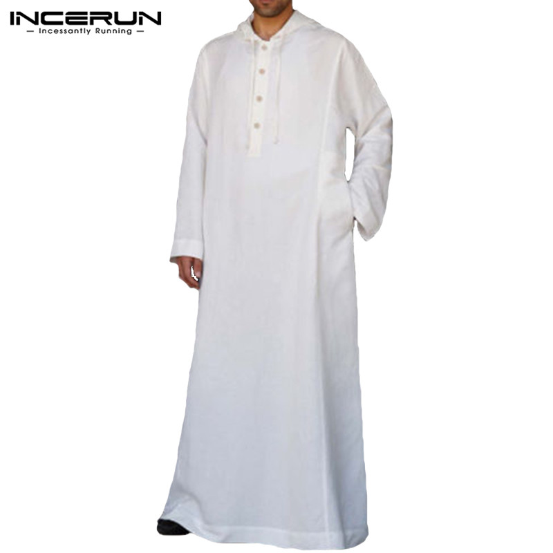 Muslim Robe Hoodies Kaftan Dressing Men Men's Clothings Men's Kaftan