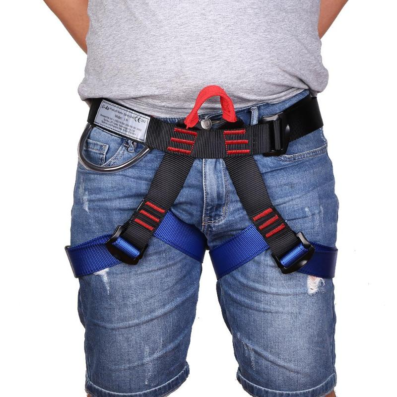 Outdoor Sports Rock Climbing Harness Waist Support Half Body Safety Belt Support Body Harness Aerial Survival Equipment 4 Color