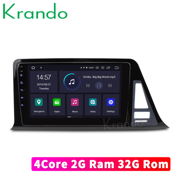 Krando Android 9.0 9 IPS Full touch Big Screen car radio multimedia player for Toyota C-HR 2016+ navigation gps No 2din DVD image