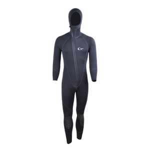 Yon Sub 5mm Winter Warm Neoprene Scuba Diving Wetsuit 5mm Men Hood Surfing Front Zipper Snorkeling Spearfishing Diving Suit(China)