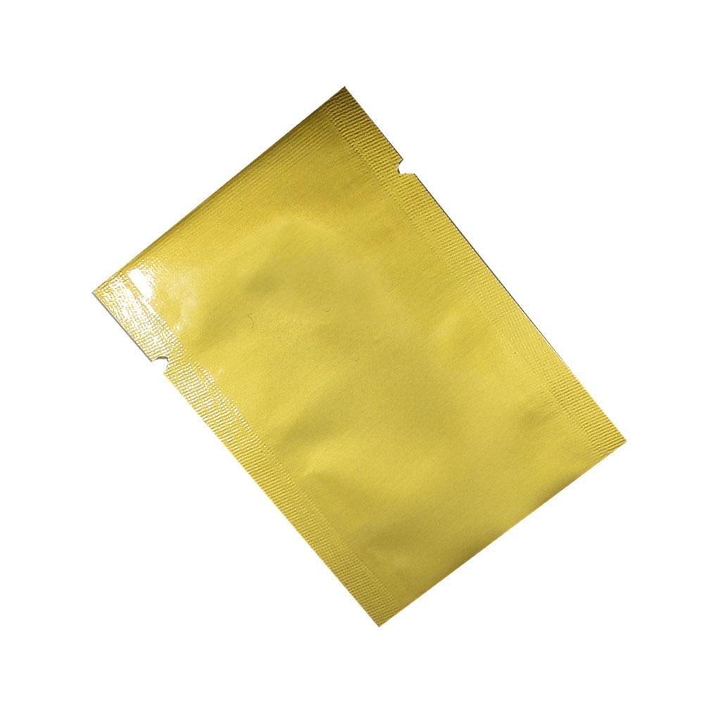 En gros haut ouvert thermoscellage sacs sous vide pur Mylar feuille emballage sacs alimentaire stockage poche faveur de mariage 2000 pièces 5x7cm 7 couleurs - 4