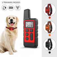 Wasserdicht Wiederaufladbare Elektrische Hund Ausbildung Kragen Haustier Fernbedienung 500M Gerät Schock Sound Kragen für Alle Größe Hunde 40% OFF