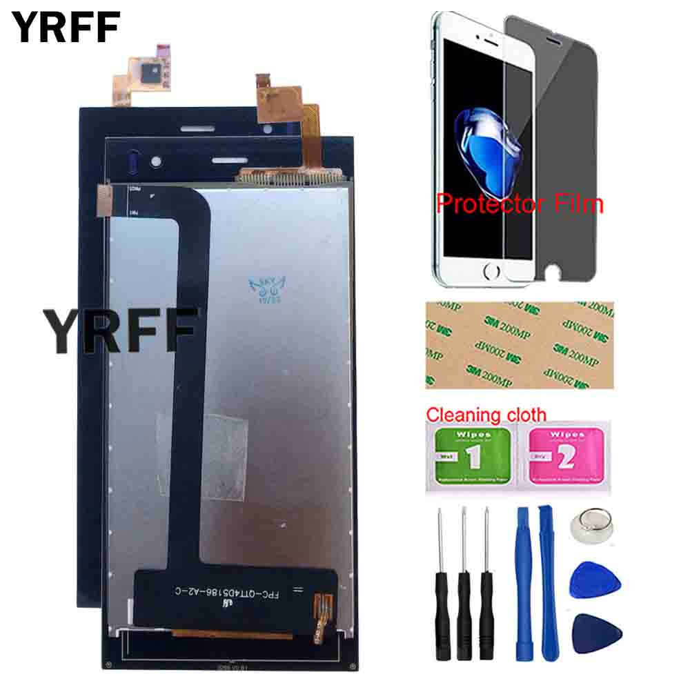 LCD Display Touch Screen For Wexler Zen 4.5 LCD Display + Touch Screen Digitizer Panel Sensor Front Glass Tools Protector Film Mobile Phone LCD Screens     - title=