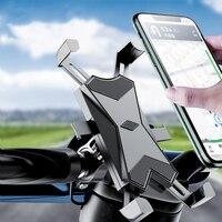 Soporte de teléfono para bicicleta con bloqueo automático, para manillar de motocicleta, para GPS, iphone 11