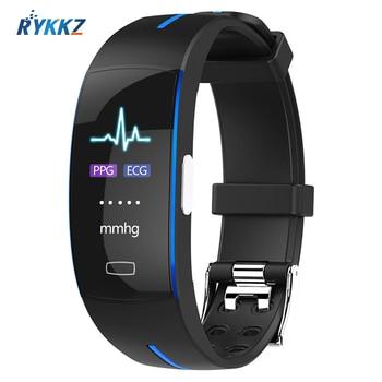 2020 P3Plus Blood Pressure Wrist Band Heart Rate Monitor PPG ECG Smart Bracelet Activit Fitness Tracker Intelligent Wristband