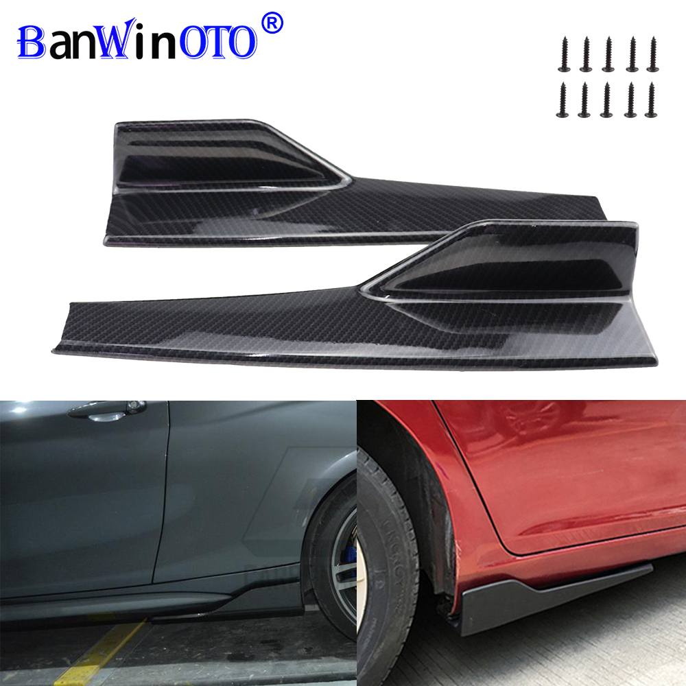 2 pz/set Auto Wide Body Lato Gonne Splitters Kit Modificato Sideskirts Rocker Anti-Graffio Winglet Ali Del Respingente 45 centimetri universale