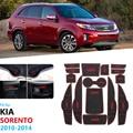 Противоскользящий резиновый подстаканник для KIA Sorento XM 2010 2011 2012 2013 2014 Kia Sorento R 2010 ~ 2014  аксессуары  автомобильные наклейки