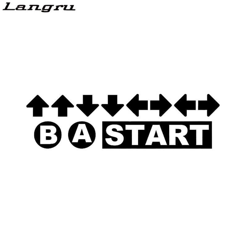 Código personalidade Jogo Batota Retro Contra Gamer Vinil Die-Cut Etiqueta Da Janela do Decalque Da Motocicleta Car Acessórios Do Carro Jdm