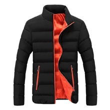 Winter Jackets Men 2019 Fashion Stand Collar Male Parka Jacket Mens Solid Thick and Coats Casual Man Parkas M-4XL