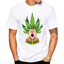 Bola de dragão figura lendária super saiyan broly impressão t-shirts moda casual dragon ball z cartoon maple leaf penteado t(China)