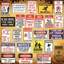 [Luckyaboy] Retro Warning Notice Metal Tin Signs Poster Vintage Plaque Pub Home Hotel Garage Bar Club Cafe Shop Decor  AL018