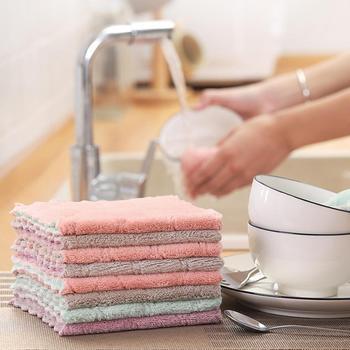 Ręcznik kuchenny z mikrofibry chłonna ściereczka do naczyń nieprzywierająca myjnia olejowa kuchnia szmata zastawa stołowa ściereczka czyszcząca narzędzie tanie i dobre opinie Ekologiczne NAKŁADKA DO MYCIA PODŁOGI Czyszczenie Mikrofibra
