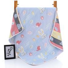 Летние одеяла для новорожденных, 90X100 см, хлопок, 6 слоев, муслиновое одеяло, пеленка для коляски, детские одеяла, детское банное полотенце