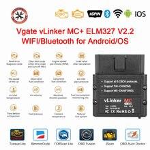 2021 mais novo original vgate vlinker mc + elm 327 v2.2 bluetooth 4.0 wifi elm327 para android/ios scanner obd2 scanner de diagnóstico do carro