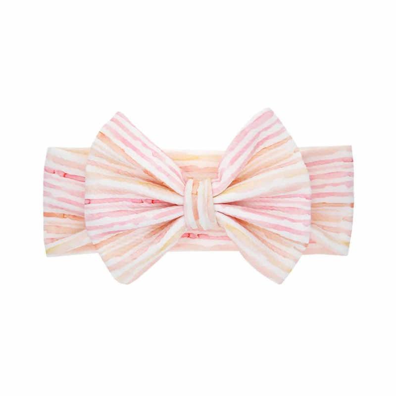 צבעוני תינוק סרטי ראש כותנה קשת שיער להקת תינוק ילדה ילד טורבן לילדים חמוד הדפסת דפוס תינוק שיער אבזרים