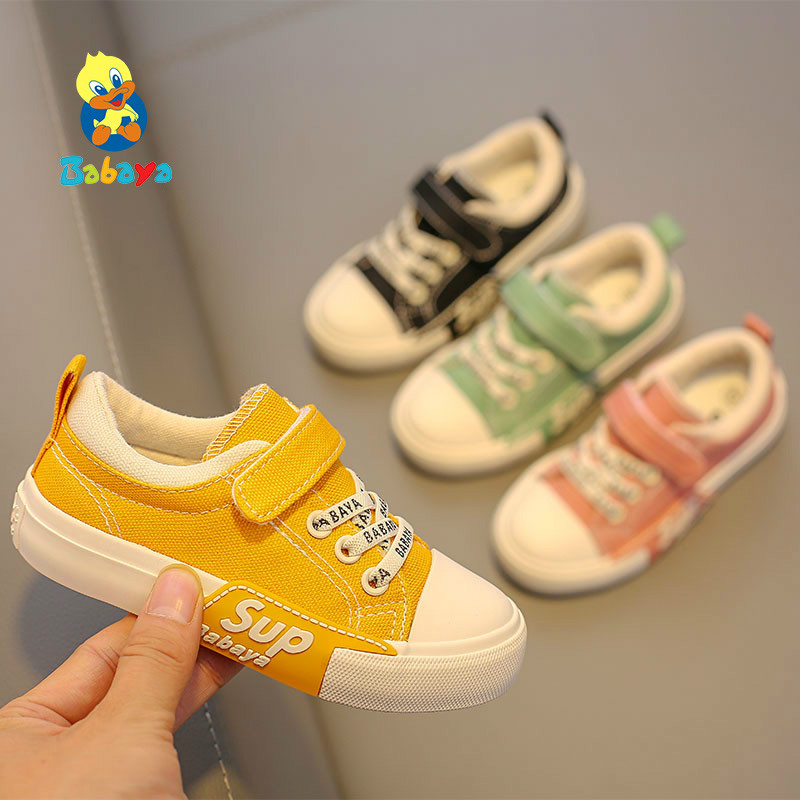 Children Canvas Shoes Boys Breathable Soft Girls Shoes Kids Sneakers New Fashion Kids Casual Shoes Sports Baby Shoes 2019 Autumn