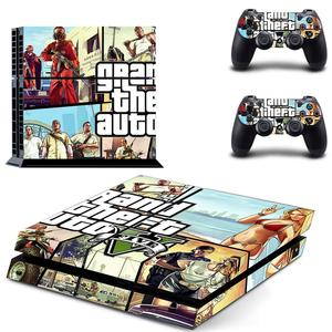 Image 4 - Grand Theft Auto V GTA 5 PS4 Skin Sticker Decals Cover For PlayStation 4 PS4 Console & Controller Skins Stickers Vinyl