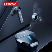 Lenovo HQ08 TWS Gaming Ohrhörer Niedrigen Latenz Bluetooth Kopfhörer HiFi Sound Gebaut-in Mic Drahtlose Kopfhörer Wasserdicht Headset