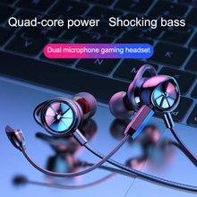 Langsdom HIFI oyun kablolu kulak içi kulaklık G100X taşınabilir sweatproof bas stereo oyun kulaklığıı G200x mikrofon ile müzik