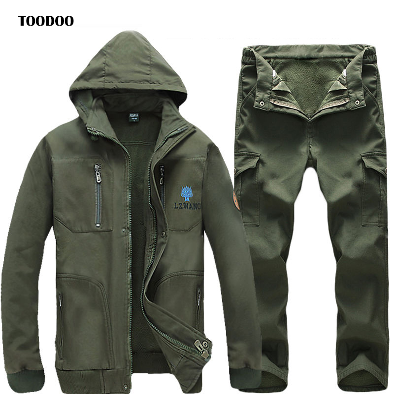 2020 Warm Working Clothing With Hood Men Uniform Long Sleeve Coveralls Protective Overalls For Worker Wear Repairman Clothing