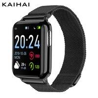 Kaihai 피트니스 트래커 ecg ppg spo2 스마트 시계 smartwatch 남성 혈압 혈액 산소 심장 박동 건강 모니터 시계