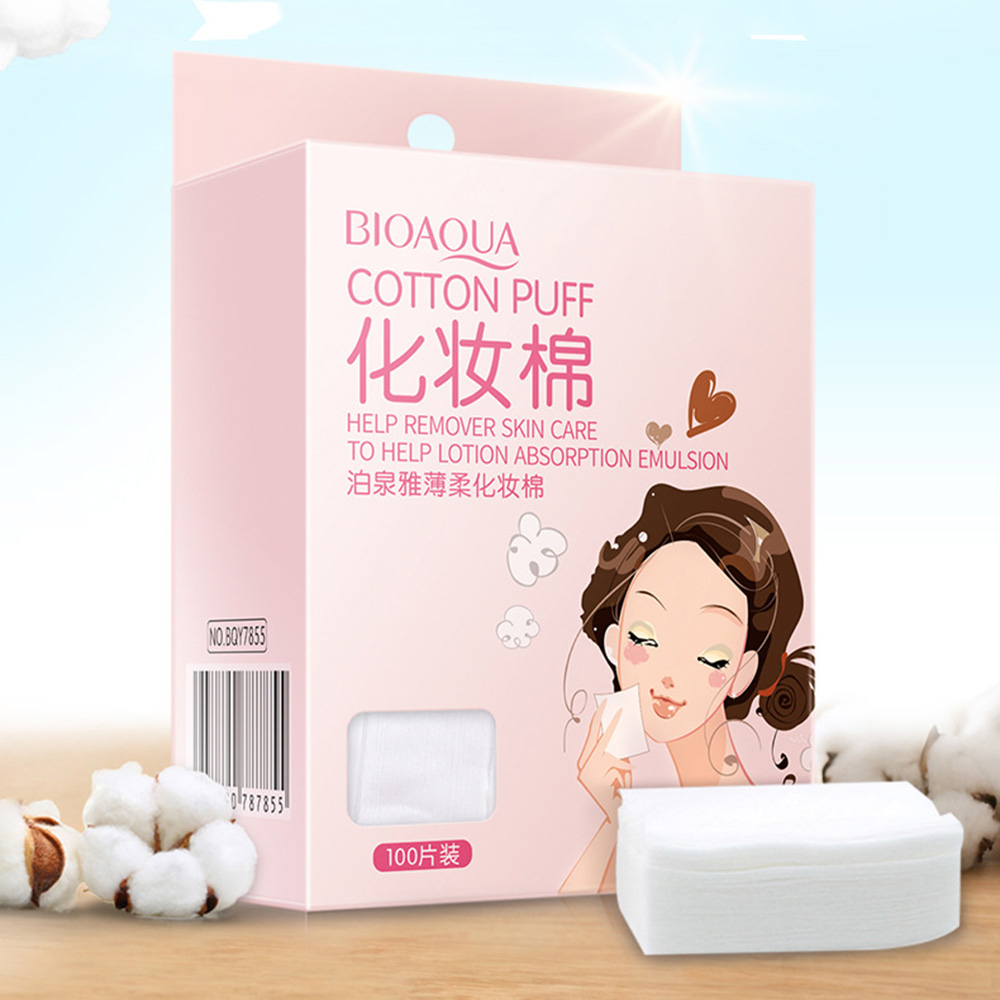 100 Pc Face Makeup Remove Cotton Pad Reusable Organic Travel Makeup Cotton Pad Tissues Nail Wipes Face Cosmetic Wipe Cotton Pads