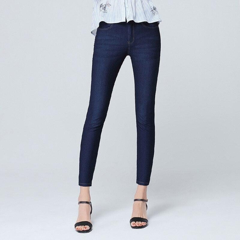 Pantalon nouveau glace soie section mince jeans femme neuf points taille haute stretch pieds pantalon mode populaire tendance pantalon