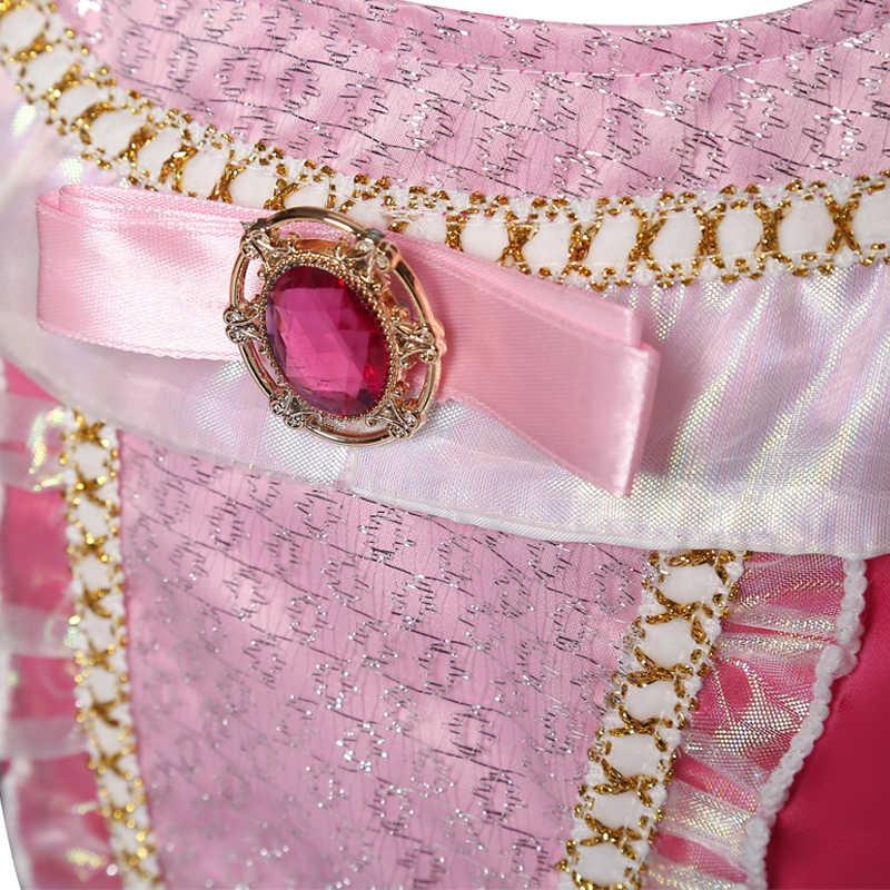 Kız giyim uyku Cosplay prenses karnaval cadılar bayramı kostüm kız parti elbise güzellik noel 4 8 10 yıl