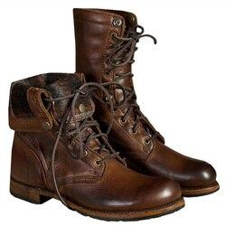 Homens Sapatos Botas De inverno Quente Botas de Pele De Couro Genuíno Dos Homens Não-escorregar Botas De Inverno Ankle Boots Calçados Homens Inverno Dos Homens Sapatos de Inverno