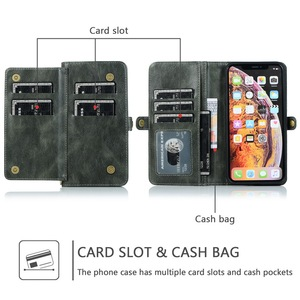 Image 5 - For Samsung A70 A50 A40 A30 A20 Removable Magnetic PU Leather Multi Cards Case Cover For Samsung S10 S9 S8 Plus Note 8 9 10Pro