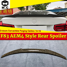 For BMW F83 M4 2 Door Coupe Convertible High Kich Forging Carbon Fiber Rear Trunk Spoiler Wing Style 4 Series 420i 430i 14-18