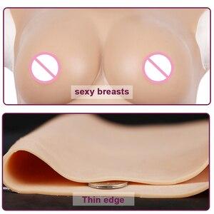 Image 5 - Pecho con forma de mama realista para travestis, pechos falsos para Cosplay transgénero, 75D generación