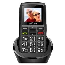 Телефон с большой кнопкой для пожилых людей artfone c1 + две