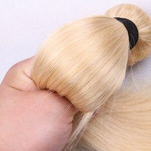 Image 5 - 613 # venda a granel 3 4 9 pacotes em linha reta cabelo humano loira extensão do cabelo brasileiro remy cabelo reto longo 30 polegada jarin cabelo