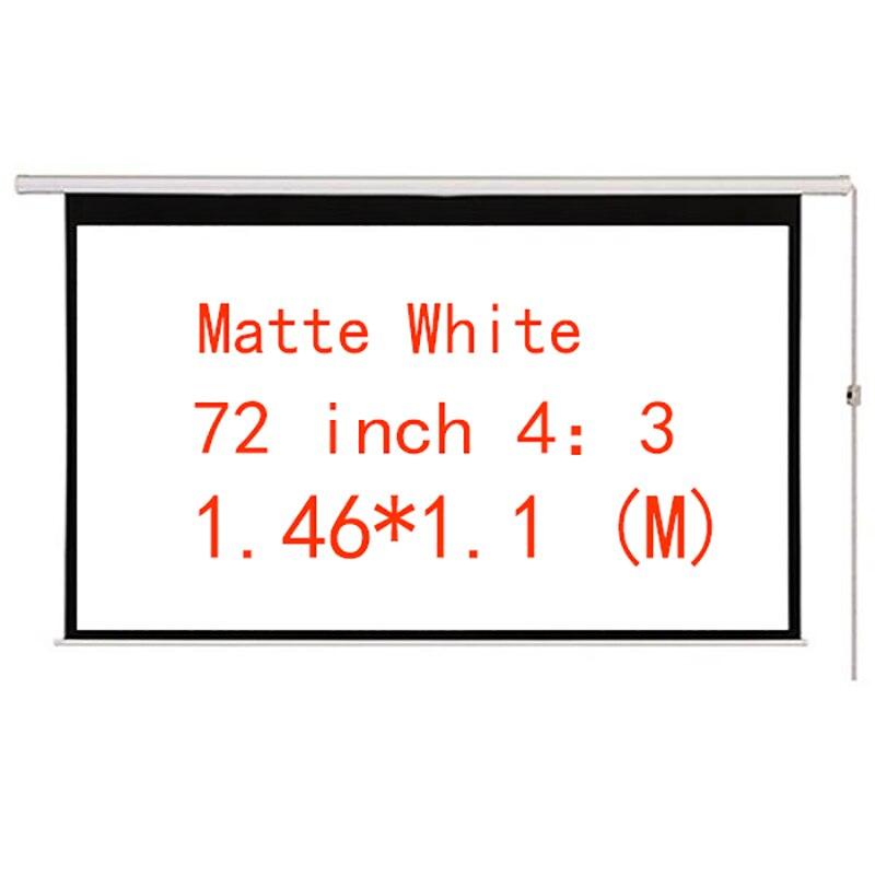 Écran de projecteur HD motorisé électrique de 72 pouces 4:3 blanc mat Thinyou avec télécommande vers le bas pour le bureau à domicile