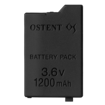 OSTENT High Capacity Quality Real 1200mAh 3.6V Lithium Ion Rechargeable Battery Pack Replacement for Sony PSP 2000/3000 PSP-S110 1 pcs just for sony psp battery slim 2000 3000 replacement rechargeable 3600mah