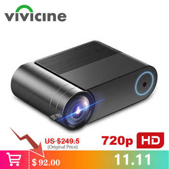 VIVICINE 720p HD LED Projector,Option Android 9.0 Portable HDMI USB 1080p Home Theater Proyector Bluetooth WIFI Mini LED Beamer - DISCOUNT ITEM  58% OFF All Category