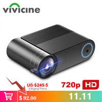 VIVICINE 720p HD LED Projector,Option Android 9.0 Portable HDMI USB 1080p Home Theater Proyector Bluetooth WIFI Mini LED Beamer