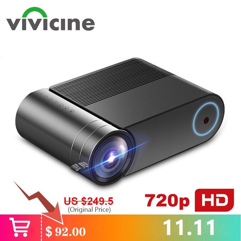 VIVICINE 720p HD projecteur LED, Option Android 9.0 Portable HDMI USB 1080p Home cinéma Proyector Bluetooth WIFI Mini LED projecteur
