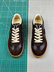 2020 MM6 Париж высокое качество замшевые Лоскутные кожаные кроссовки мужские и женские пары Нескользящая повседневная обувь с низким вырезом