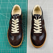 2020 MM6 Paris Top Quality Suede Patchwork Leather Sneakers Men Women Couples Non-slip Casu