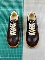 2020 MM6 Paris Top Quality Suede Patchwork Leather Sneakers Men Women Couples Non slip Casual Shoes Low cut Shoe