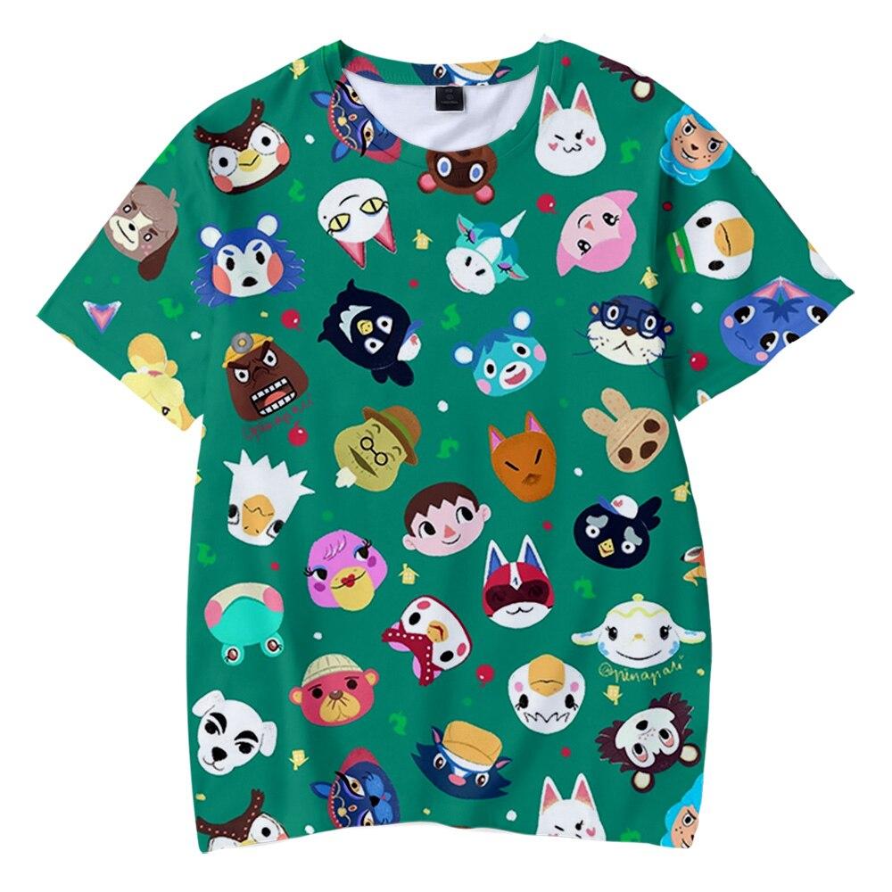 Streetwear New Animal Crossing Cool 3D Adult Kids T-shirt 2020 New Summer Cosplay Kids Adult Fashion Short Sleeve T-shirt