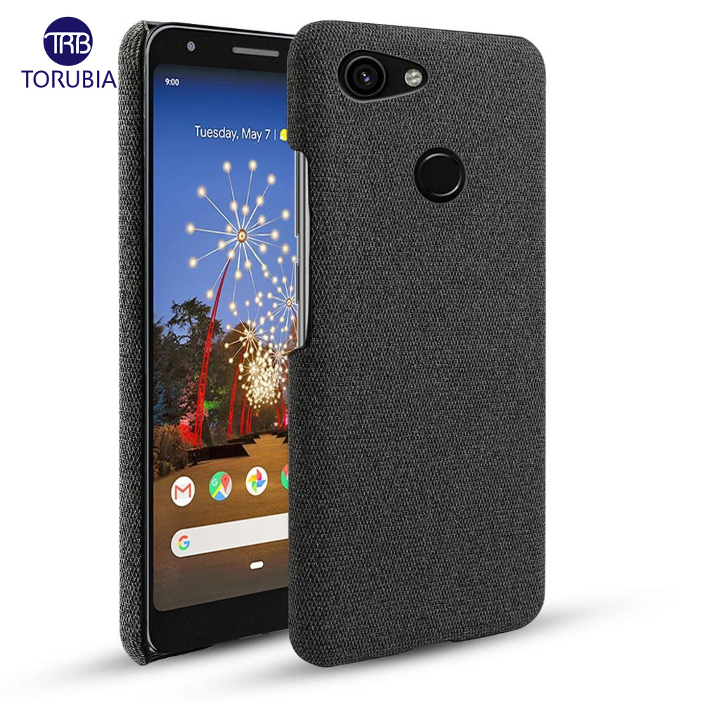 For Google Pixel 3A 3A XL 3 3 XL Case Slim Retro Woven Fabric Cloth Hard PC Cover For Google Pixel 2 2 XL 4 4 XL Case Shockproof