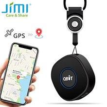 Jimi qbit mini rastreador pessoal gps portátil de rastreamento com bateria de monitoramento de voz chamada bidirecional para crianças livre jimimax app