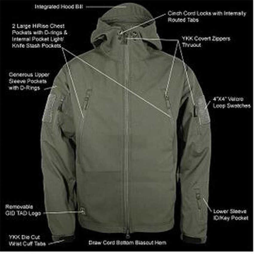 14 สีผู้ชายกองทัพCamouflage JacketทหารAirsoftยุทธวิธีเสื้อผ้ากลางแจ้งกองกำลังพิเศษปลอมตัวเสื้อผ้ากันน้ำ