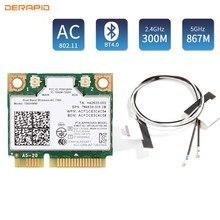1200mbps banda dupla 802.11ac para intel7260 7260ac 7260hmw 2.4g/5ghz bluetooth 4.0 mini pcie wifi rede sem fio wlan cartão ipex